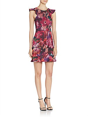 abs female sleeveless floral printed dress