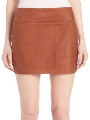 Sophya Suede Mini Skirt