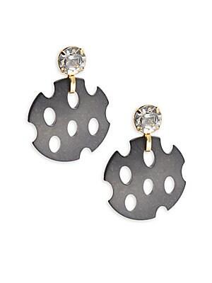 Mesh Chip Crystal Stud Earrings