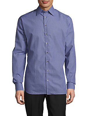 Classic-Fit Gingham Cotton Shirt