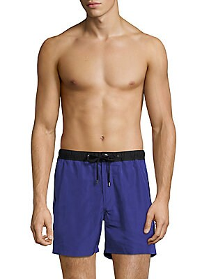 michael kors male contrast swim trunks