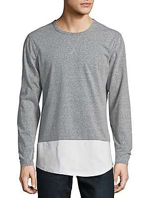 Roundneck Heathered Pullover