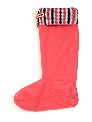 hunter shoes female original tall deck chair stripe boot socks