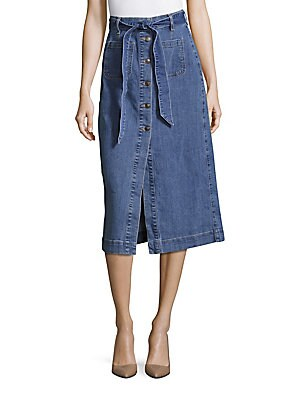 The Peyton Cotton-Blend Denim Skirt