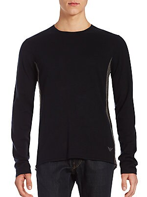 Silk-Blend Crewneck Pullover