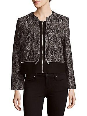 Vivianne Textured Long-Sleeve Jacket