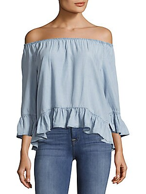 Julia Off-The-Shoulder Ruffled Top