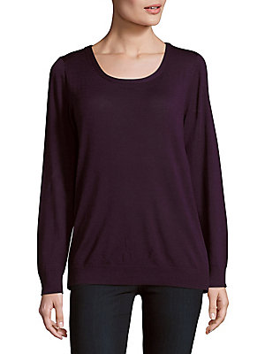 Solid Scoopneck Pullover