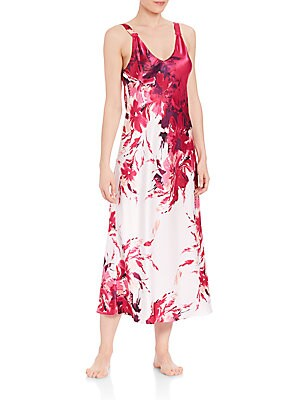 Printed Charmeuse Gown