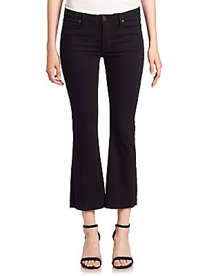 Mia Black Cropped Flare Jeans
