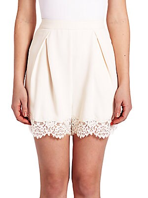 Crepe Lace Tuck Short