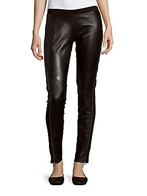 Prive Leather Panel Pants