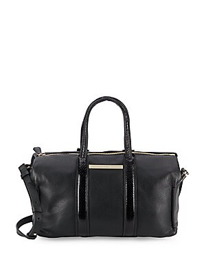 Uptown Textured Leather Satchel