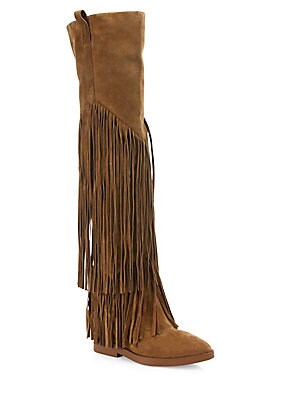 Gipsy Tall Fringed Suede Boots