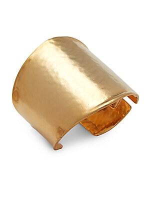 Satin Goldtone Cuff Bracelet