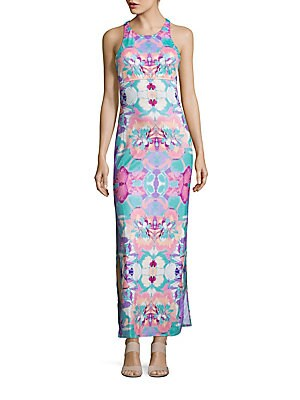 Globetrotter Printed Maxi Dress