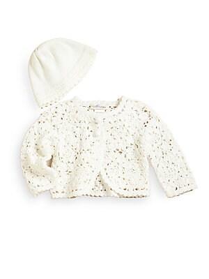 Baby's Crochet Cardigan & Hat Set
