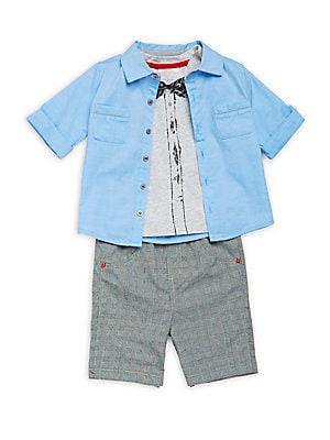 Baby's Three-Piece Shirt, T-Shirt & Pants Set