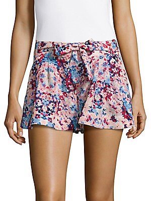 Floral Printed Pleated Shorts