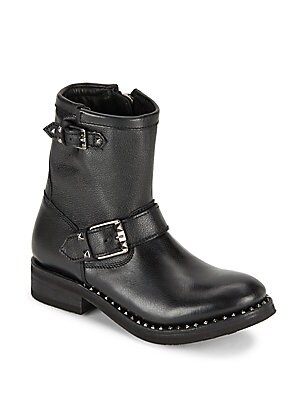 Soho Studded Leather Ankle Boots