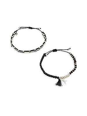 Agate & Beads Pull-Tie Bracelet