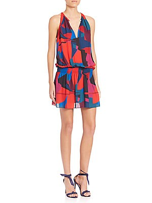 Abstract Printed Paris Dress