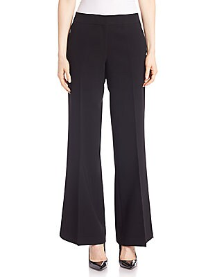 lafayette 148 new york female finesse crepe kenmare flare pants