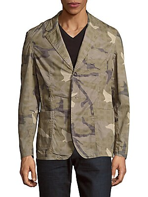 Camo Print Blazer Jacket