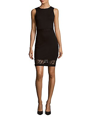 Beau Lace-Trimmed Sheath Dress