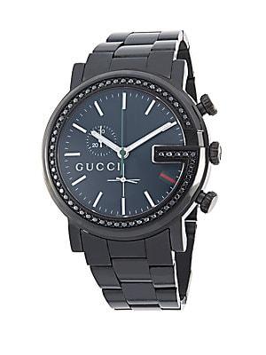 Diamond & Stainless Steel Bracelet Watch