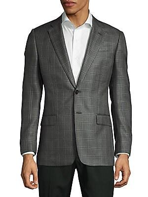 Silk & Wool Windowpane Sportcoat
