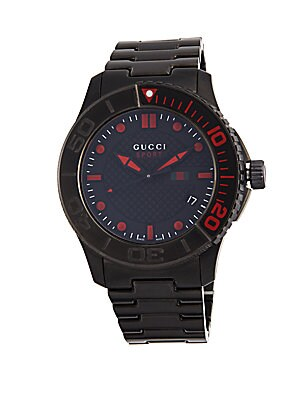 PVD Coated Stainless Steel Bracelet Watch