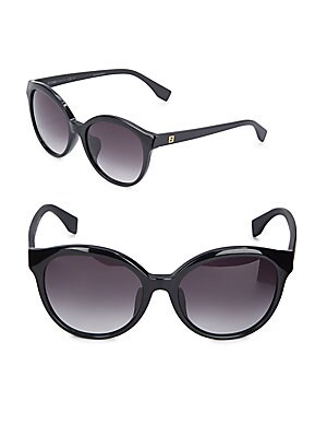 fendi female oval gradient sunglasses 56mm