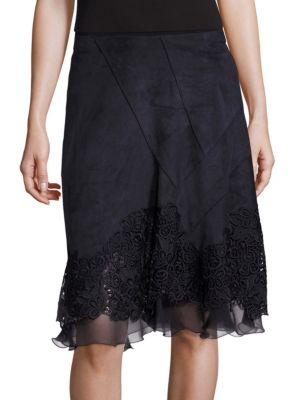Lila Lace Applique Skirt Elie Tahari