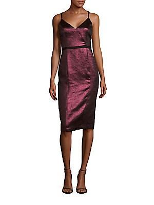 Soleil Metallic V-Neck Dress