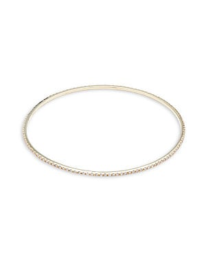 Click here for 14K White Gold & Diamond Bangle Bracelet prices