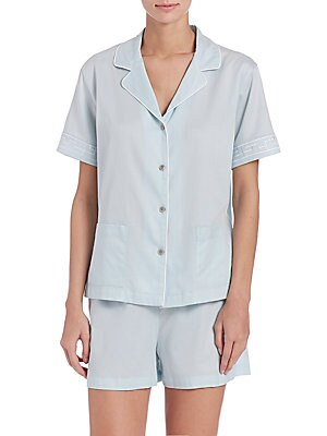 Cotton Sateen Short Pajamas