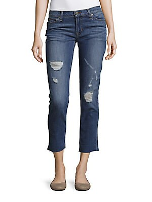 Whiskered Skinny-Fit Jeans
