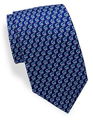 Elephant Printed Tie