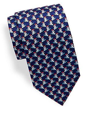 Penguin Printed Silk Tie