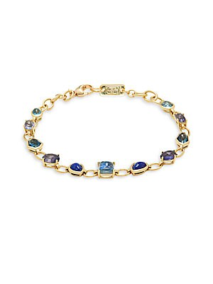 Rock Candy 18K Yellow Gold Multistone Link Bracelet