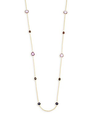 Rock Candy 18K Yellow Gold Multistone Necklace