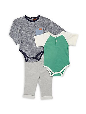 Baby Three-Piece Bodysuit & Pants Set