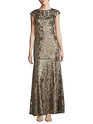 Jewelneck Embellished Gown