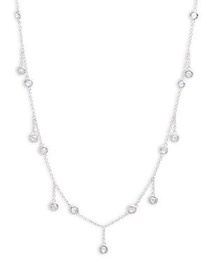 Cubic Zirconia Station Collar Necklace