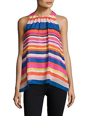 Sleeveless Colorblock Top