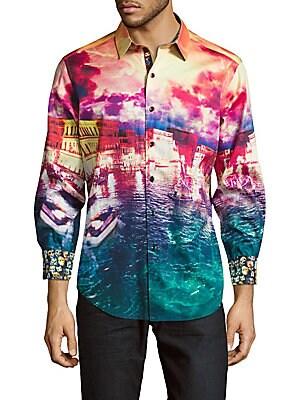 Venetian Lagoon Classic-Fit Cotton Button-Down Shirt