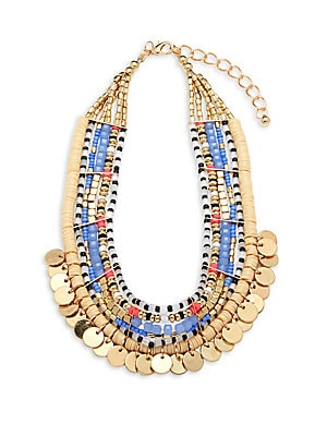 Beaded Goldtone Necklace