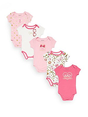 Baby's 5-Piece Assorted Cotton-Blend Bodysuit Set