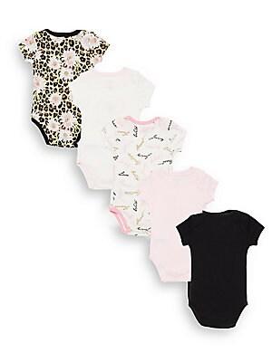 Baby's 5-Piece Assorted Bodysuit Set
